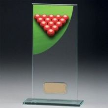 Snooker Colour-Curve Jade Crystal Award